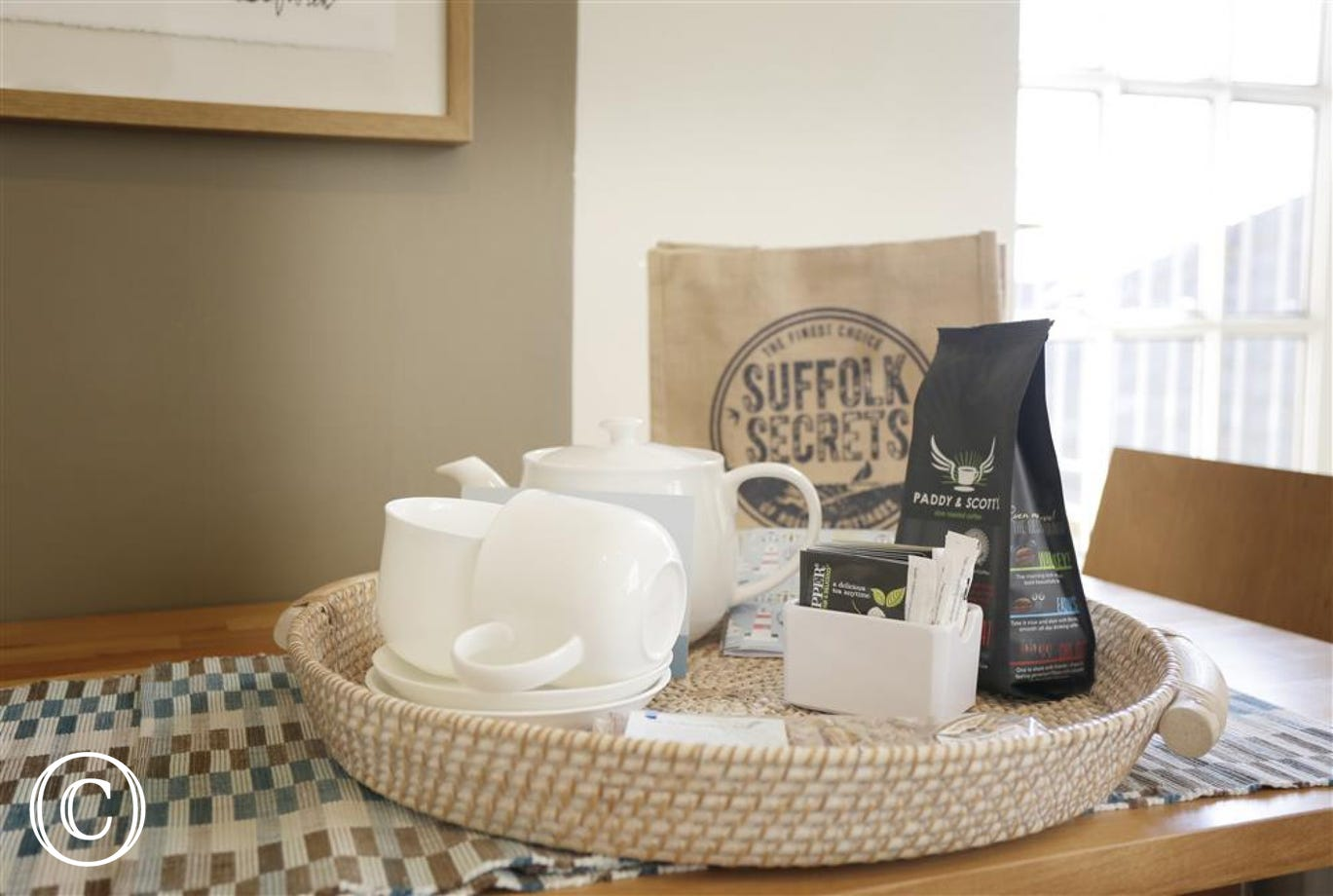 After a long journey to the property you can settle down to a nice cup of Suffolk coffee or a soothing brew before you unpack.