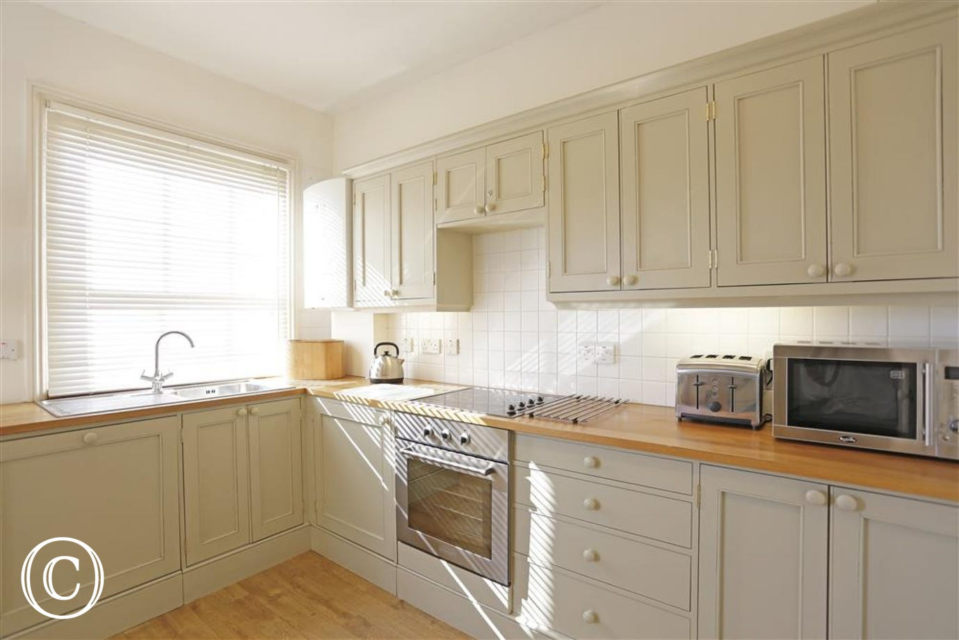 This modern kitchen will cater for all your self-catering needs.