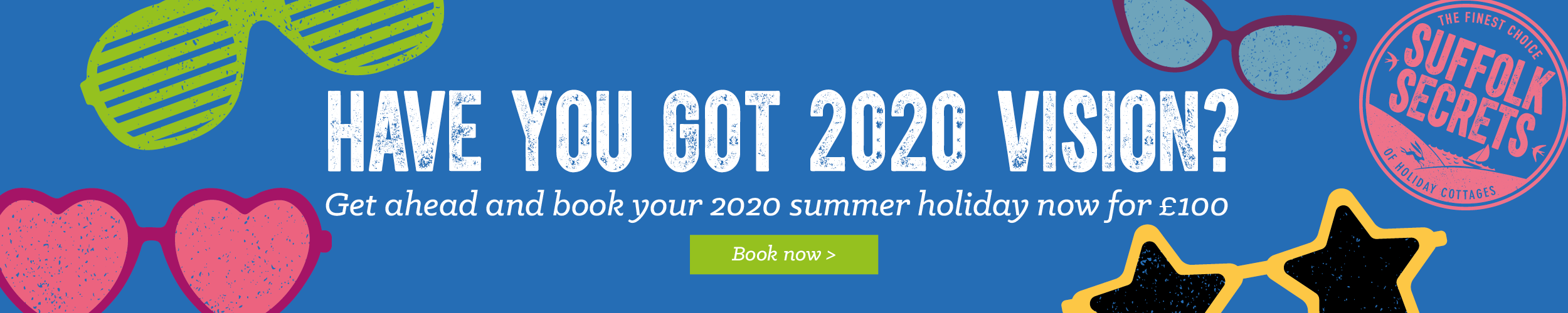 Book for 2020 for £100 deposit