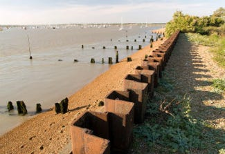 Sea defences at Bawdsey