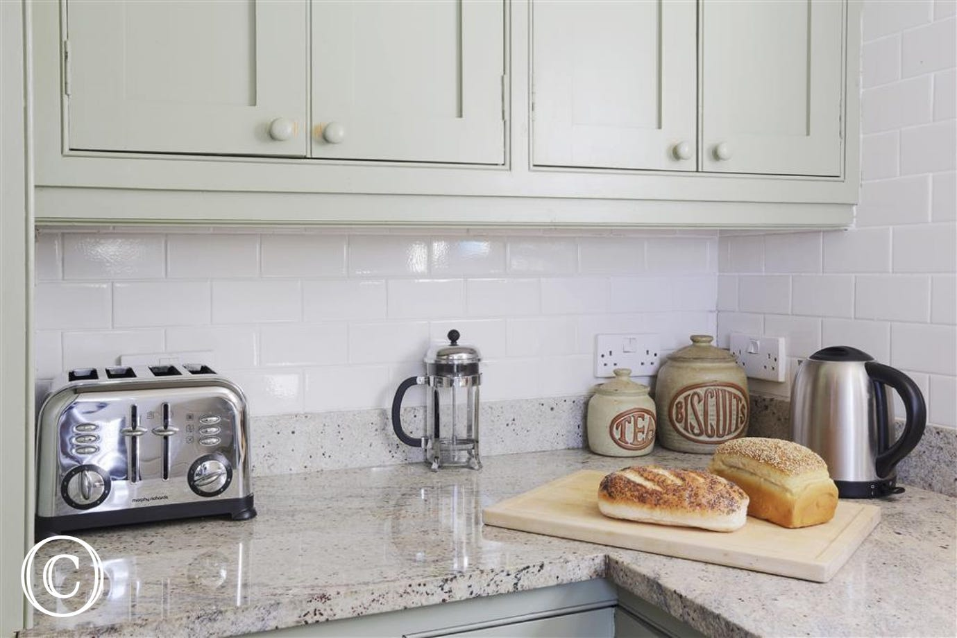Kitchen Worktops with small appliances