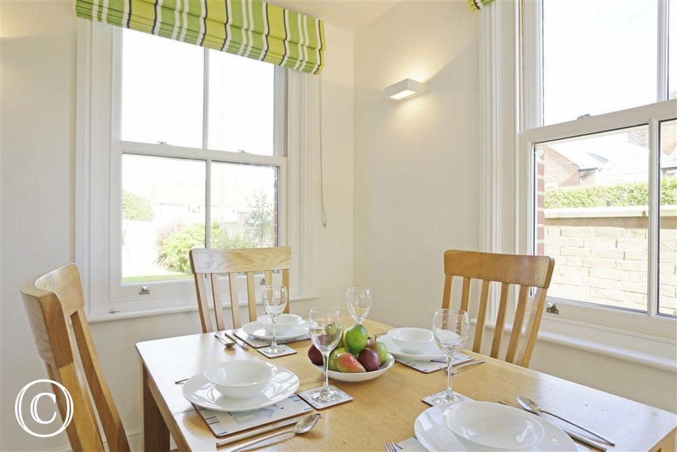 A lovely, bright space for all to eat together sociably.