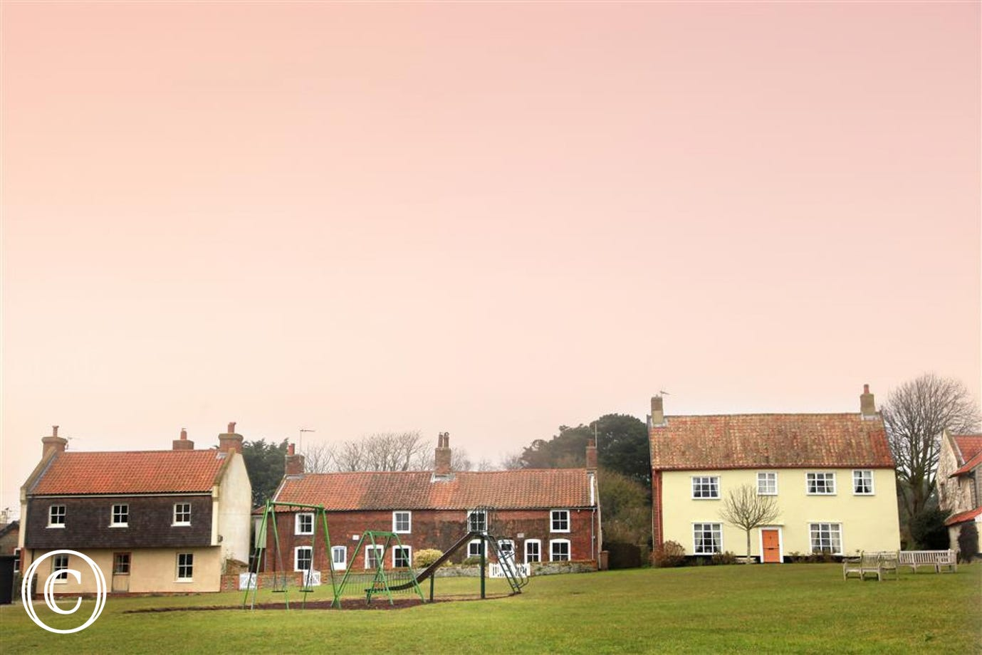 Views over the village Green in Walberswick