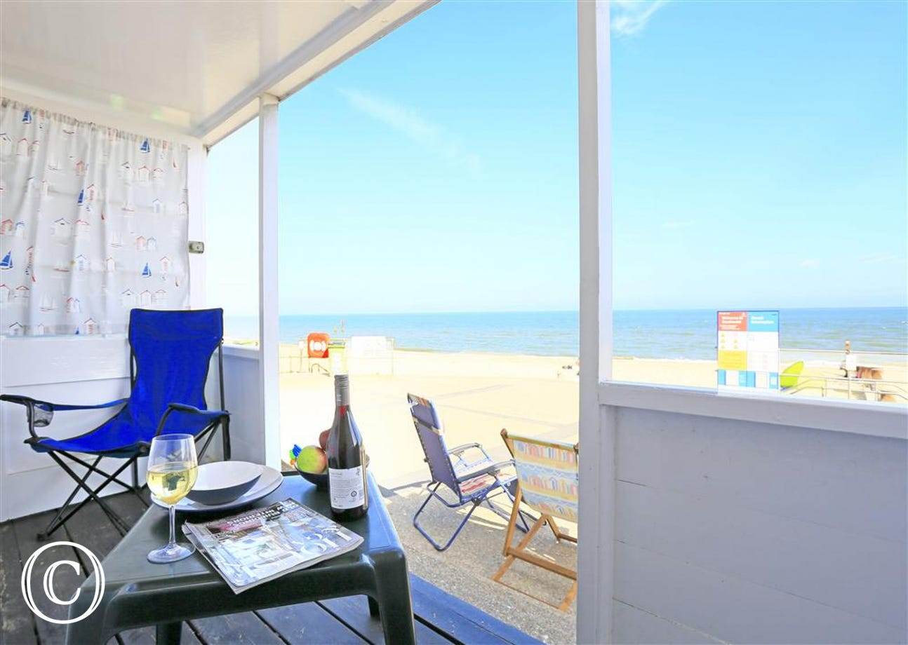 Located right on the beach front, perfect in the summer!