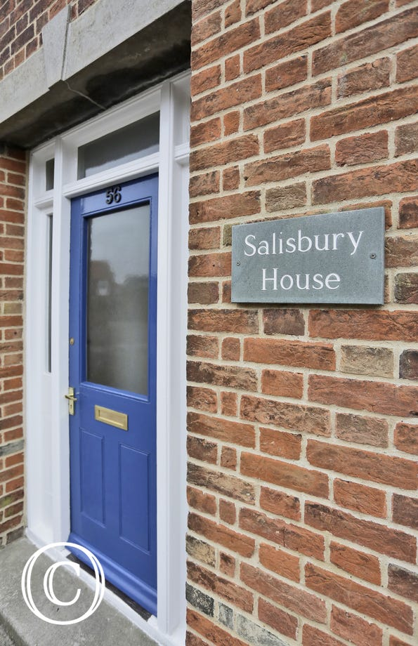 This blue door in the entrance to the property and the slate name plate will ensure you're in the right place for your Suffolk holiday!