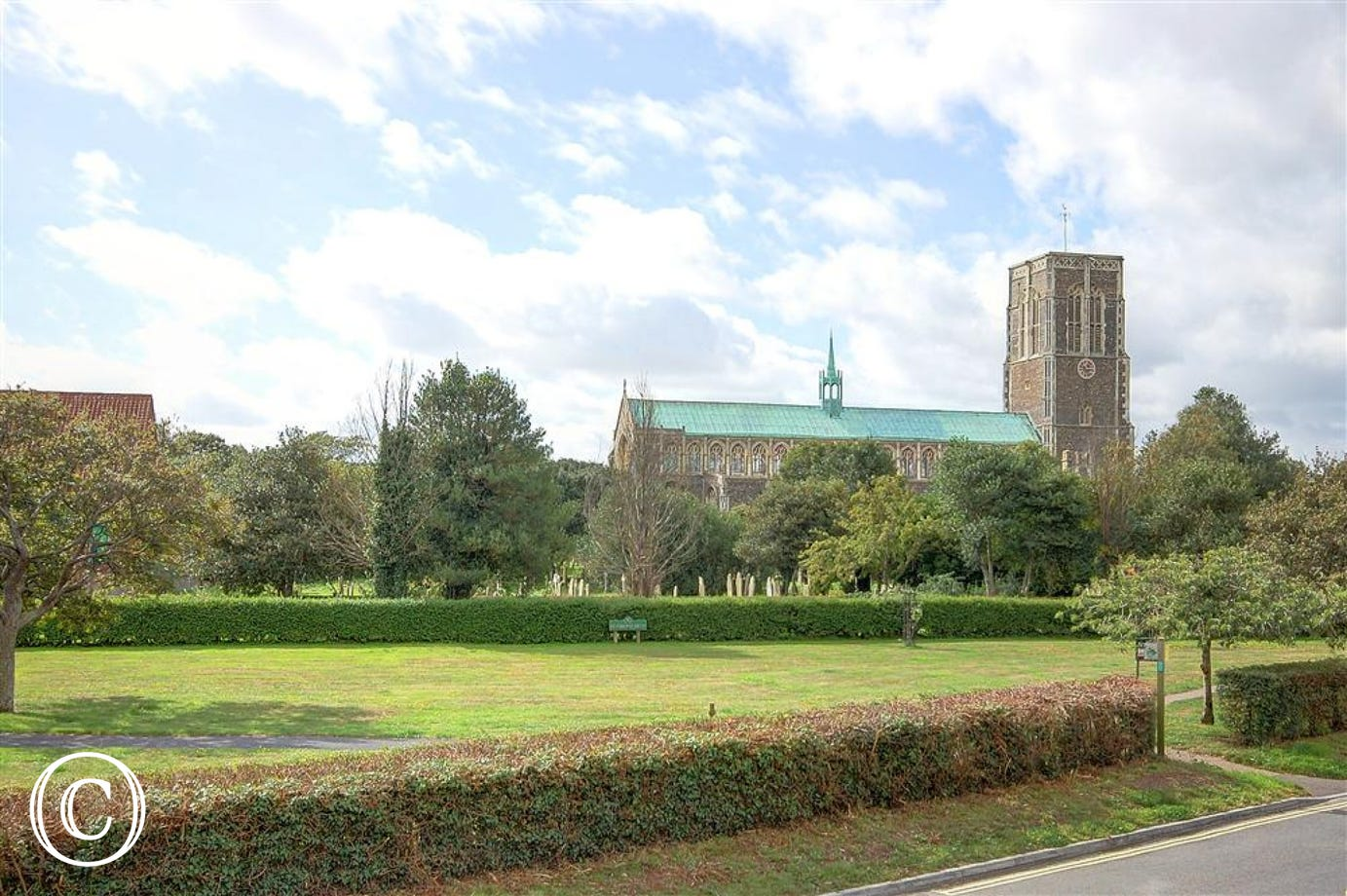 St Edmunds Church can be seen from the apartment and is a recognised Southwold landmark.
