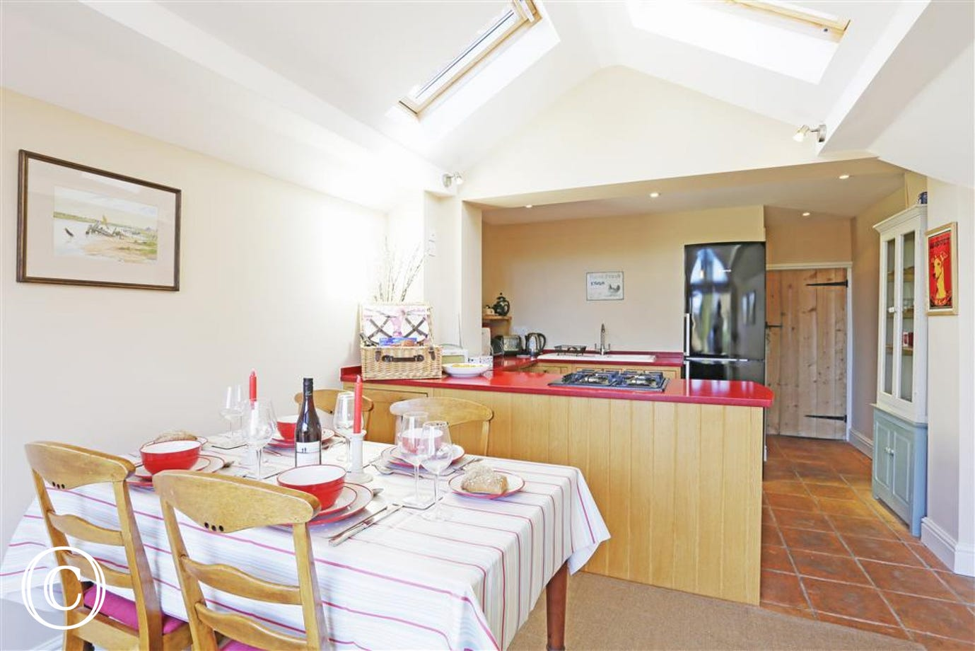 Enjoy large meals together in this family-friendly property.