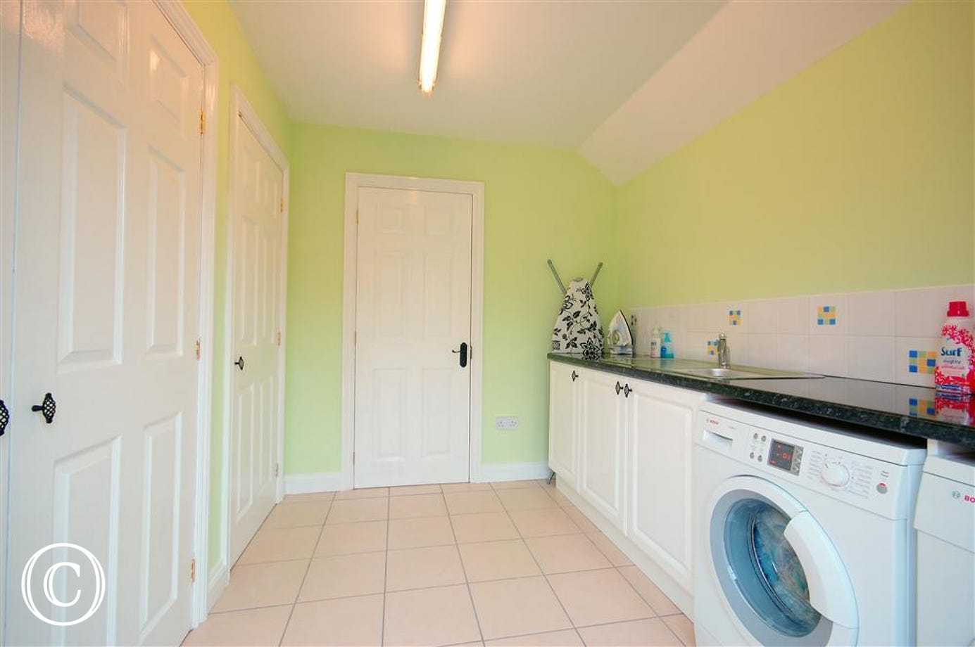 If you need to do some washing then feel free to make use of this utility area.