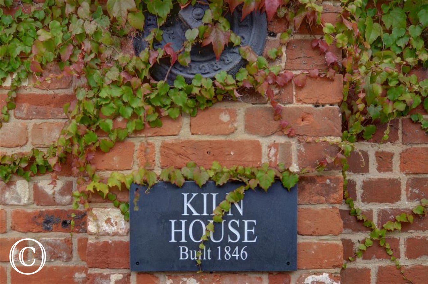 This flint name plate will ensure you are at the right part of The Maltings when you come and stay at Kiln House