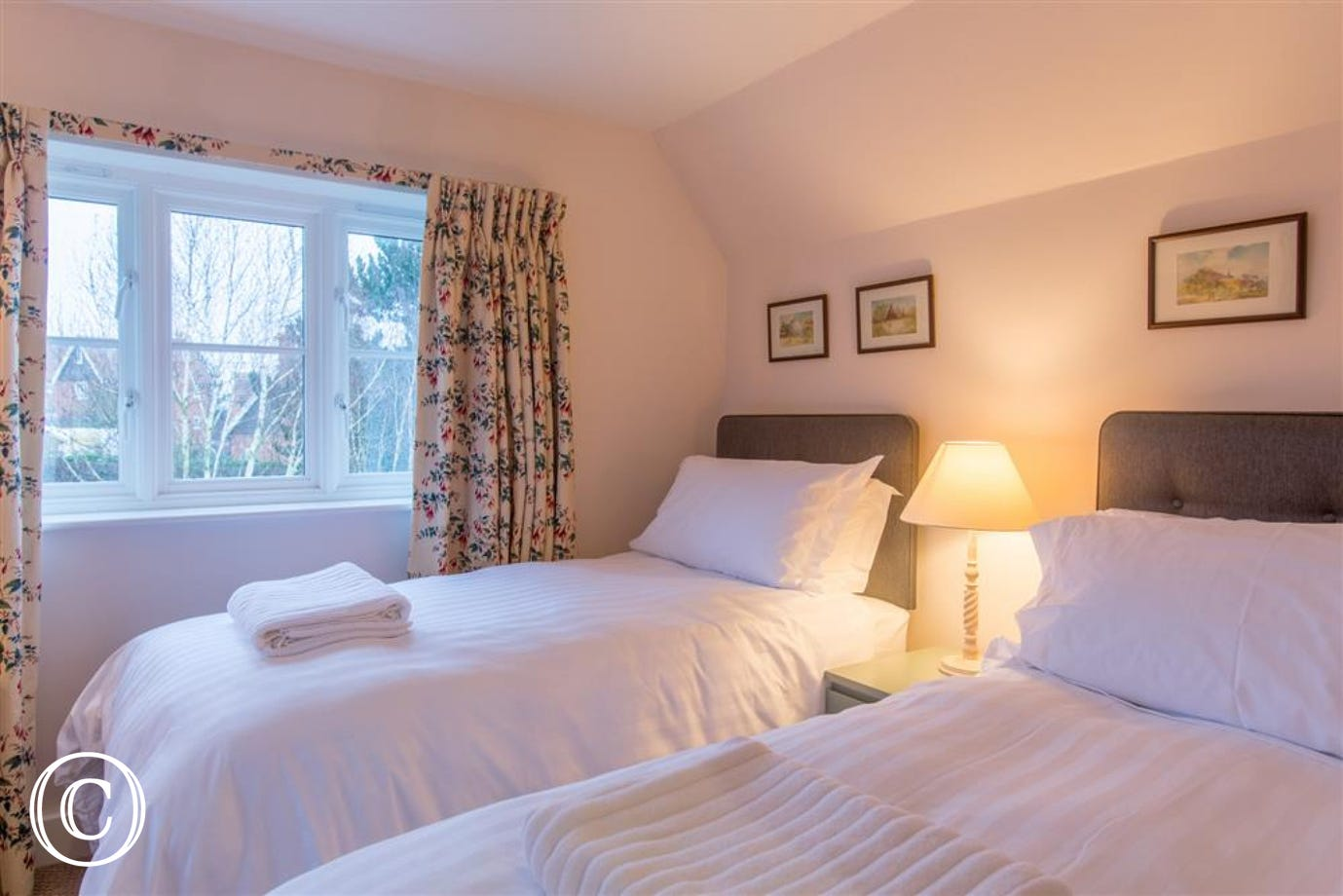 Twin bedroom, Fairhaven, Walberswick