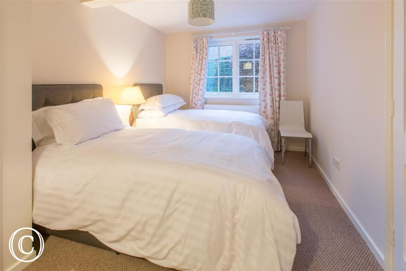 Ground floor twin bedroom, Fairhaven, Walberswick