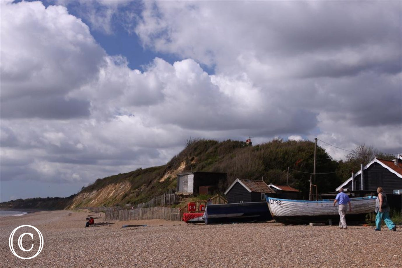 Local fishing boats on Dunwich Beach