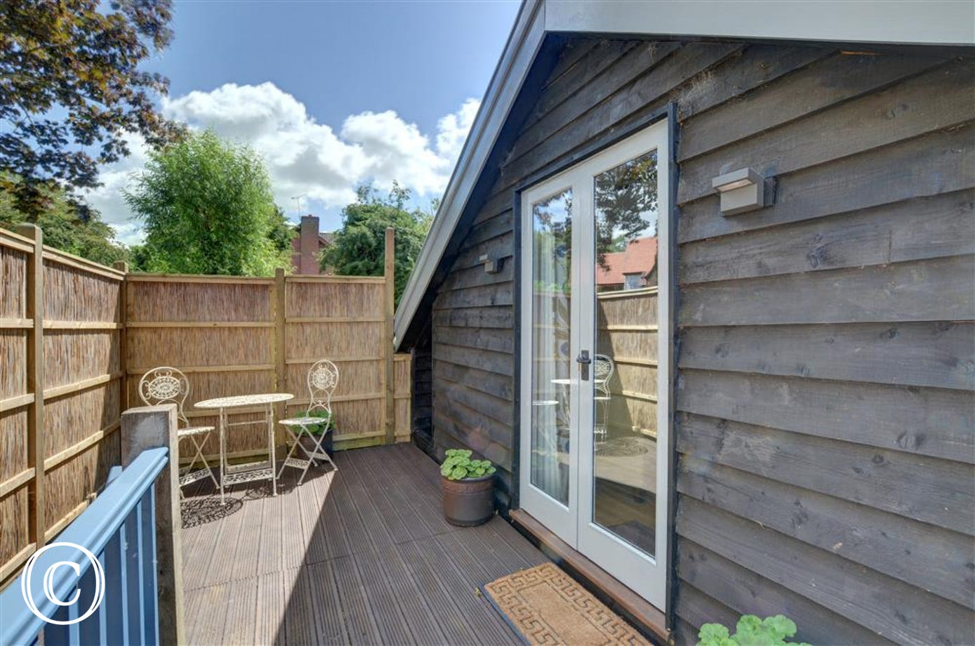 Enjoy the decked area to the front of the property for some alfresco dining or enjoying the sun.
