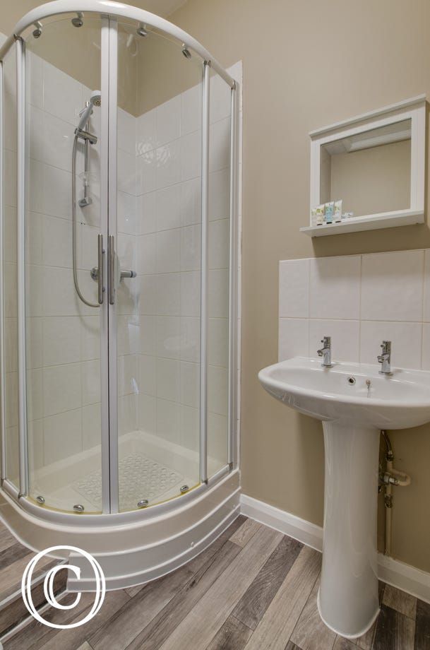 Bedroom 3 Ensuite with shower cubicle, washbasin & wc