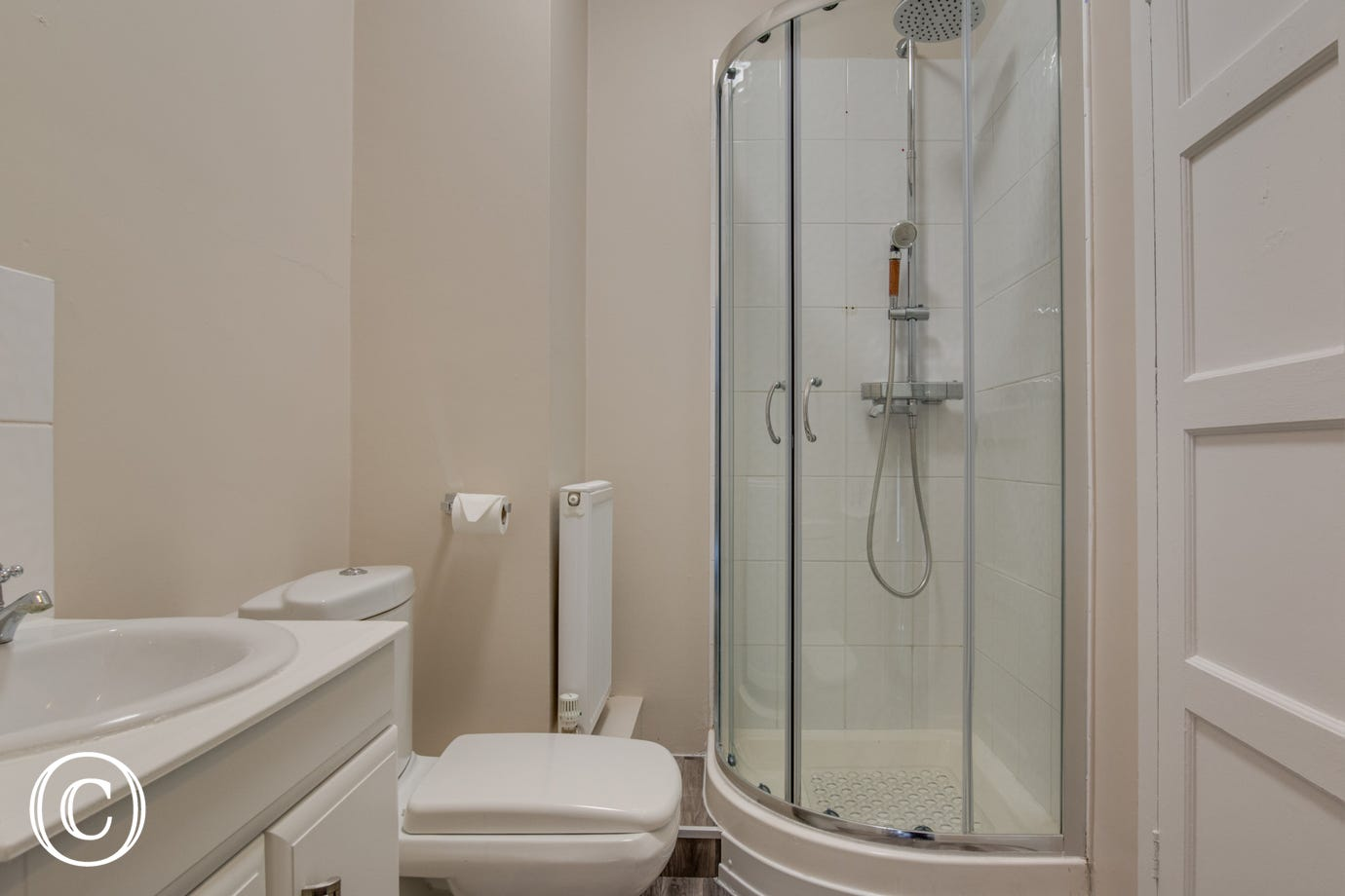 Bedroom 4 Ensuite with shower cubicle, washbasin & wc
