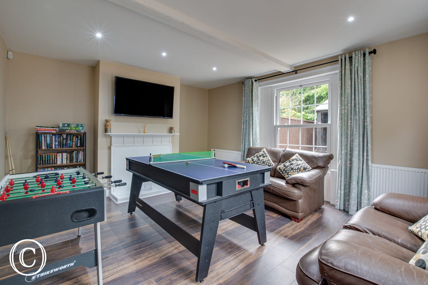 Games Room with football table