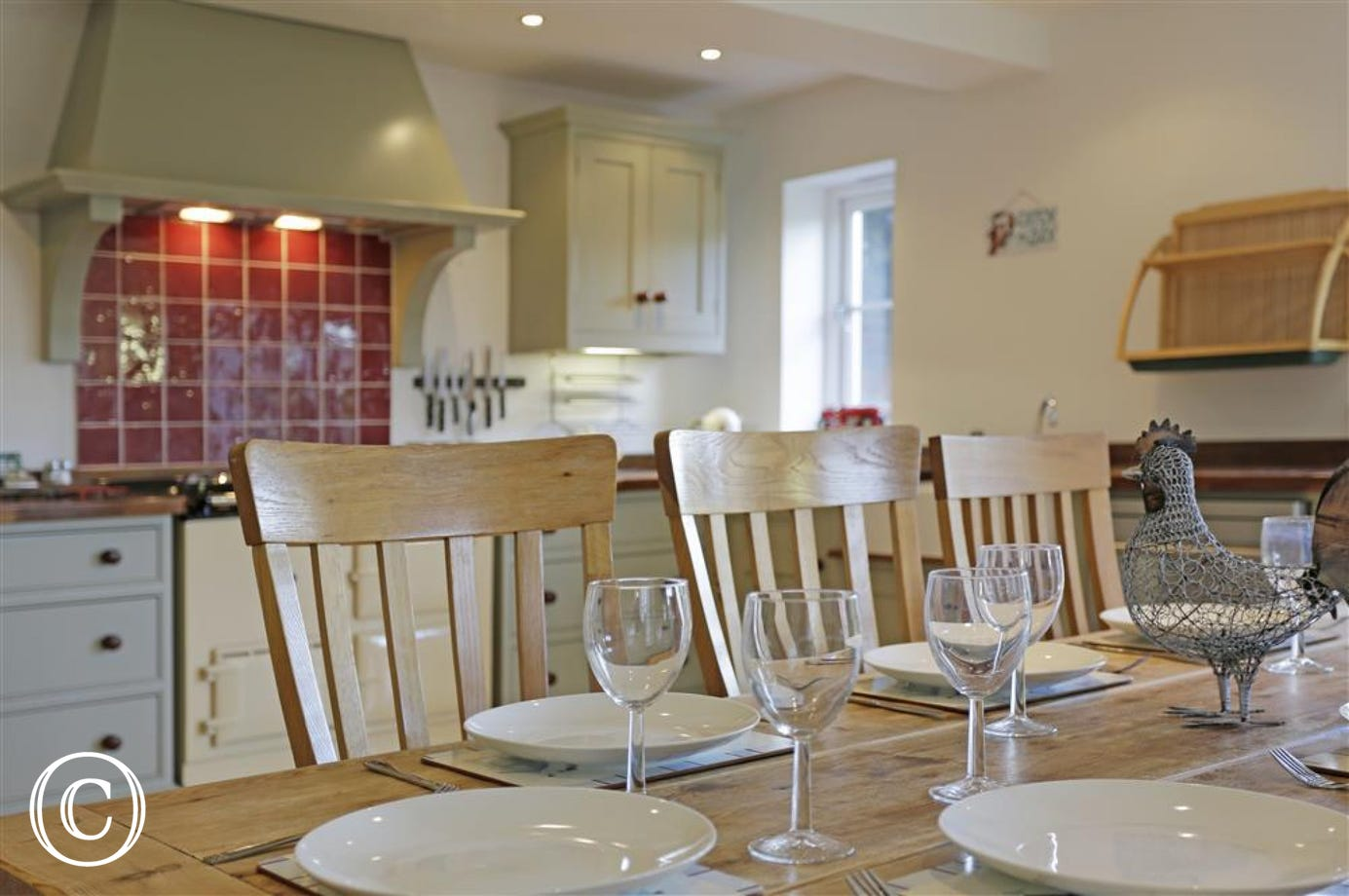 This spacious room is ideal for gathering your family together to enjoy meal times. The large cooker can guarantee to provide facilities for a feast.