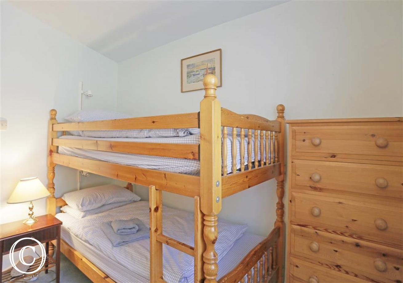 Great bunk-bedded room for the kids.