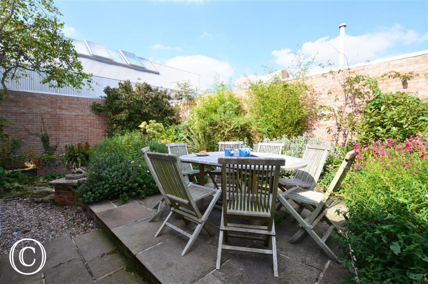 Relax and enjoy the outside space at Samphire House.