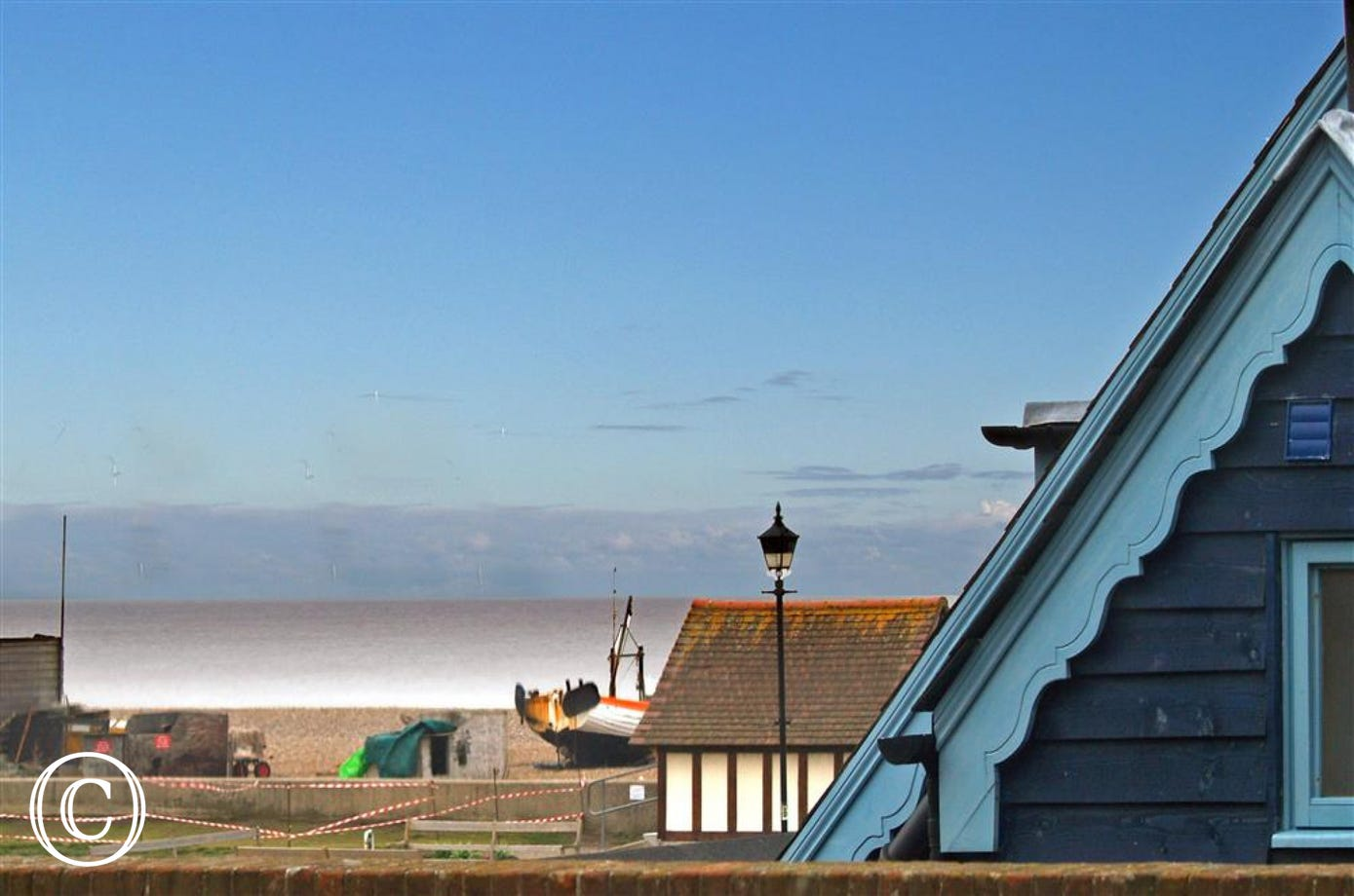 Wonderful views from The Crow's Nest overlooking Aldeburgh sea front.