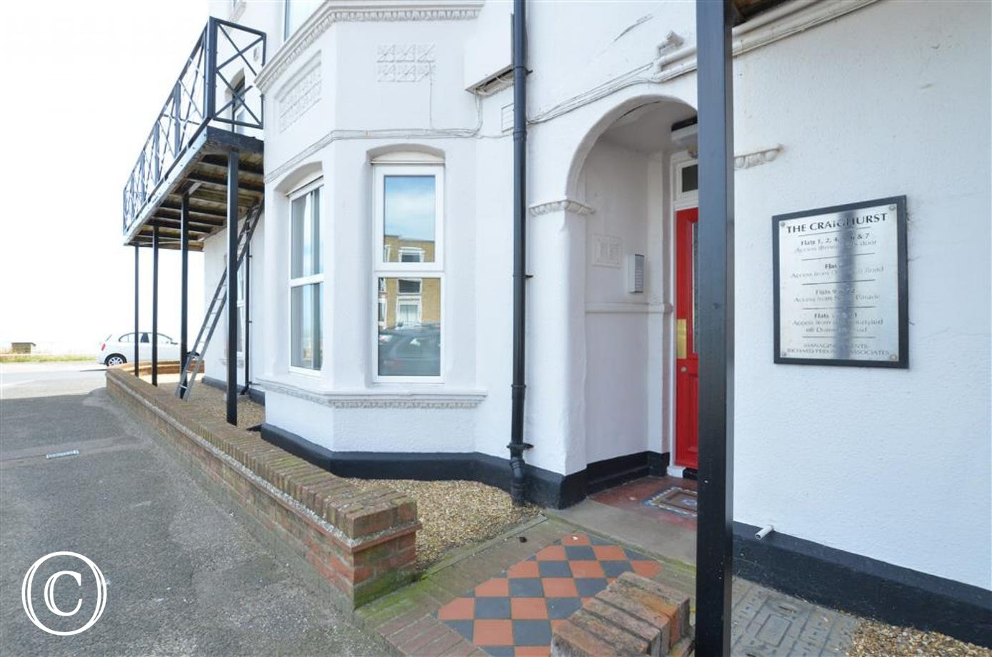 This is the main door to access Pier View, it is situated on Dunwich Road.