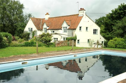 The old mill house with pool