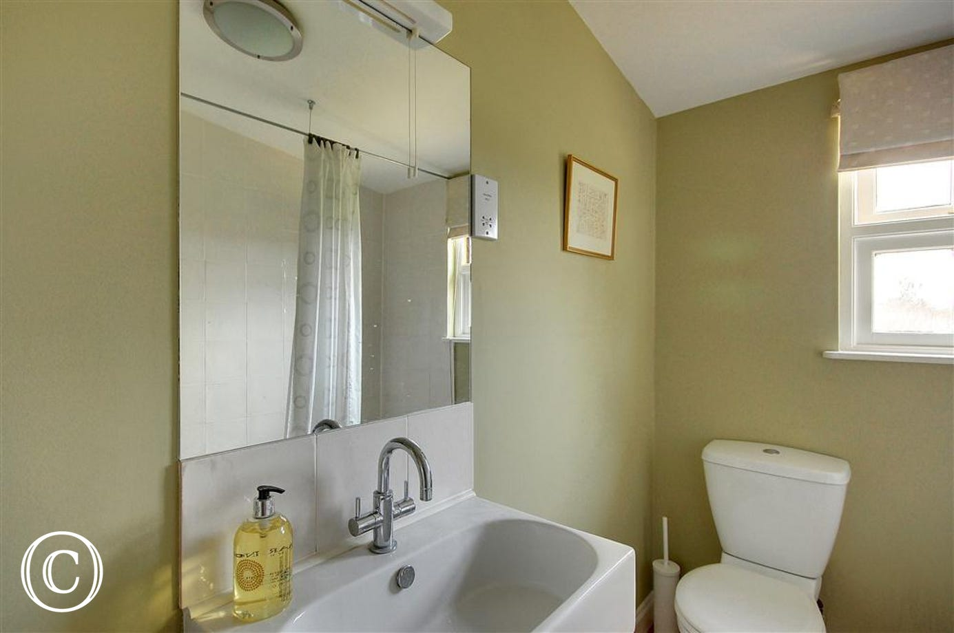 A relaxing bathroom is also provided in this conversion for bathing convenience.
