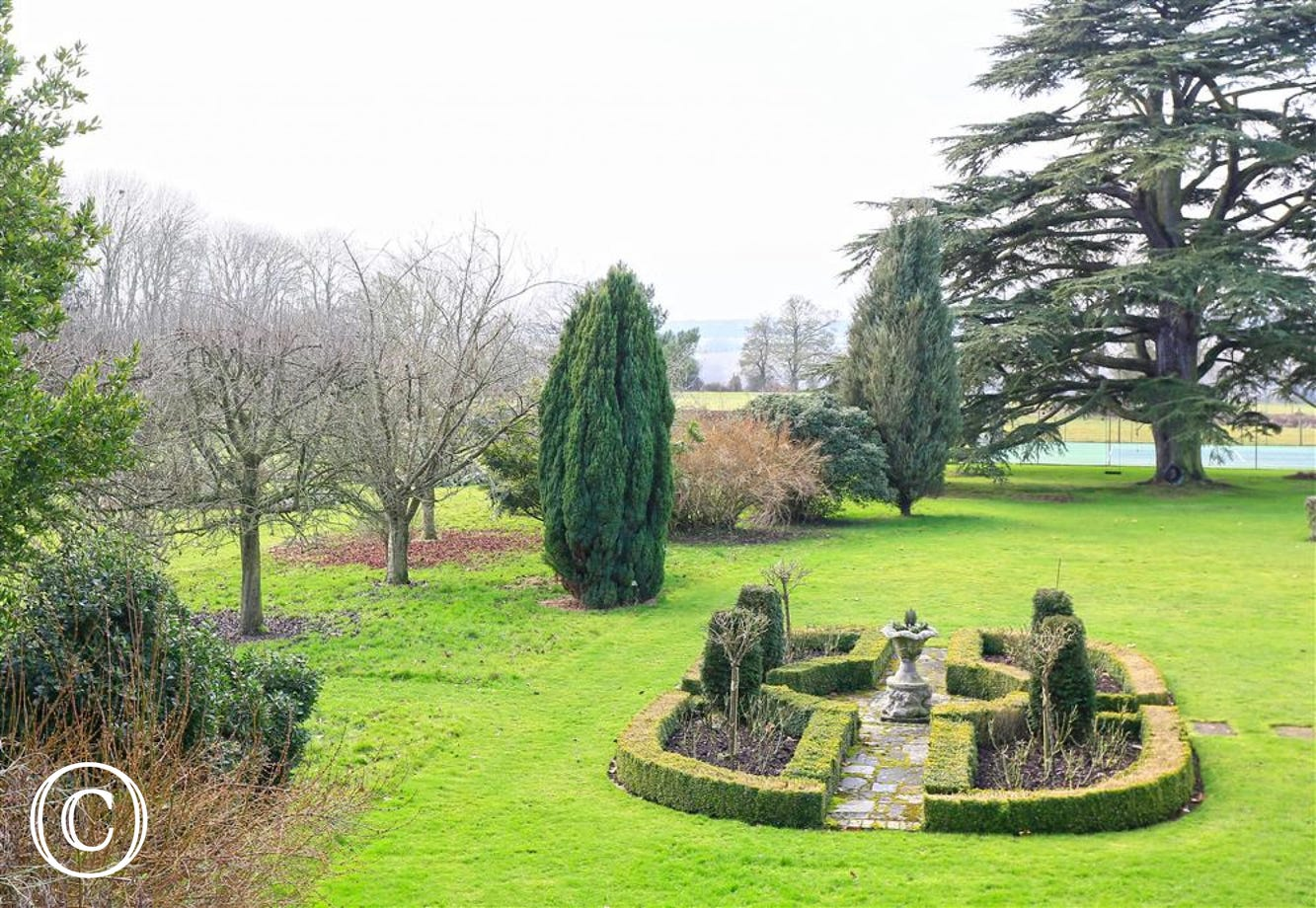 Grounds within Parham Hall